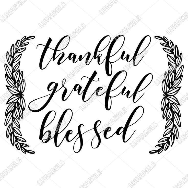 Download Thankful Grateful Blessed svg, Thankful clipart, Blessed ...