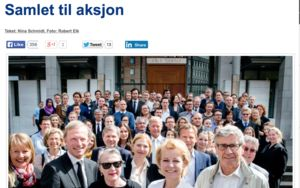 Fra Advokatbladet, advokater aksjonerer for rettssikkerheten