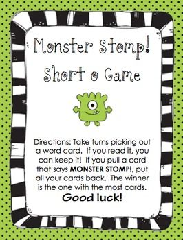 "Monster Stomp - Short ""o"" Vowel Game"