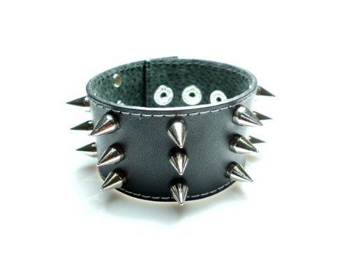 Studded Wristband Punk Rock Spike Metal Black Leather Bracelet JadeTreeDream. $12.99. Length: 7.1 ~ 8.3 Inches. Handmade Punk Bracelet. leather