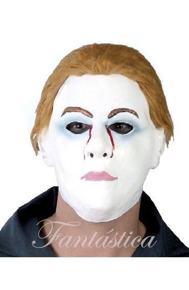 Máscara Careta con Pelo de Jason Martes 13 para Disfraz de Halloween