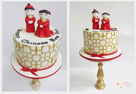 Chinese new year  Cake by Trishie