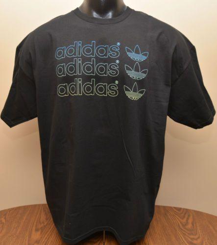 """Adidas""""adi Logo Outline"""" Black Tee Shirt Men's Large"""