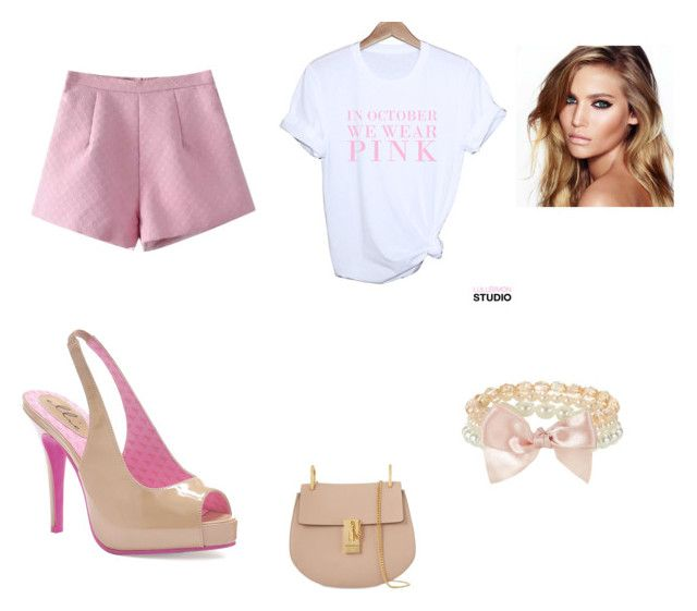 """""""dream for a little more pink"""" by stellast on Polyvore featuring Chicnova Fashion, Ellie, Accessorize, Charlotte Tilbury and Chloé"""