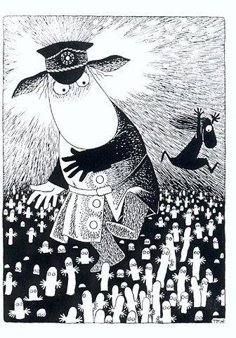 Politimester mumi er ude på Hattifnatøen hvor alle hattifnatterne bor. De er kun farlige når det lige har tordnet #mumi