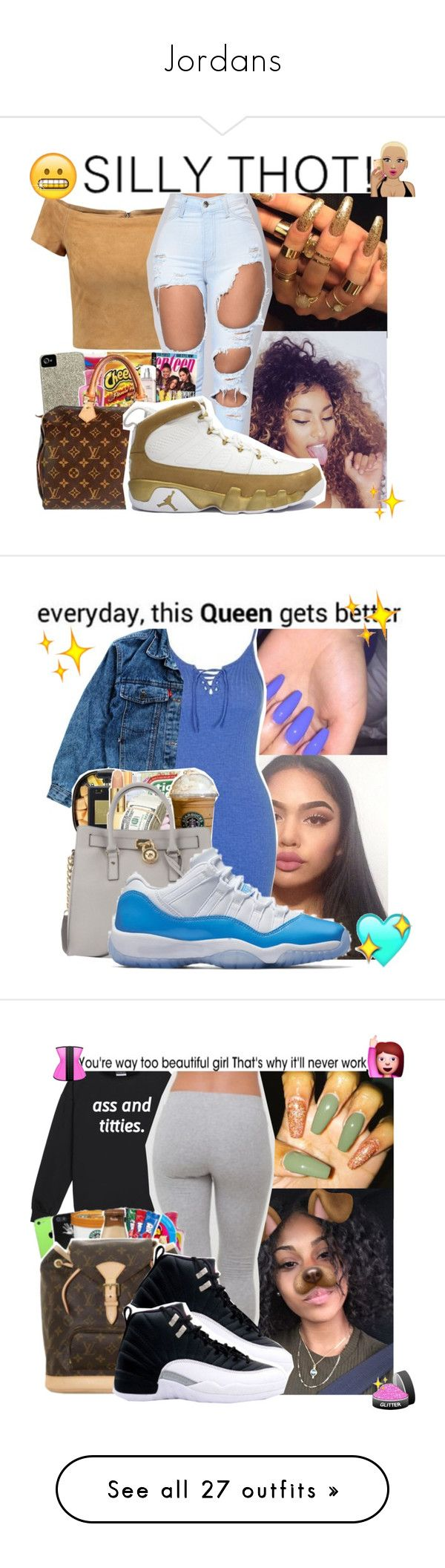 """""""Jordans"""" by badleaa ❤ liked on Polyvore featuring Alice + Olivia, xO Design, Retrò, Topshop, Levi's, Ray-Ban, NIKE, MCM, Boohoo and beauty"""