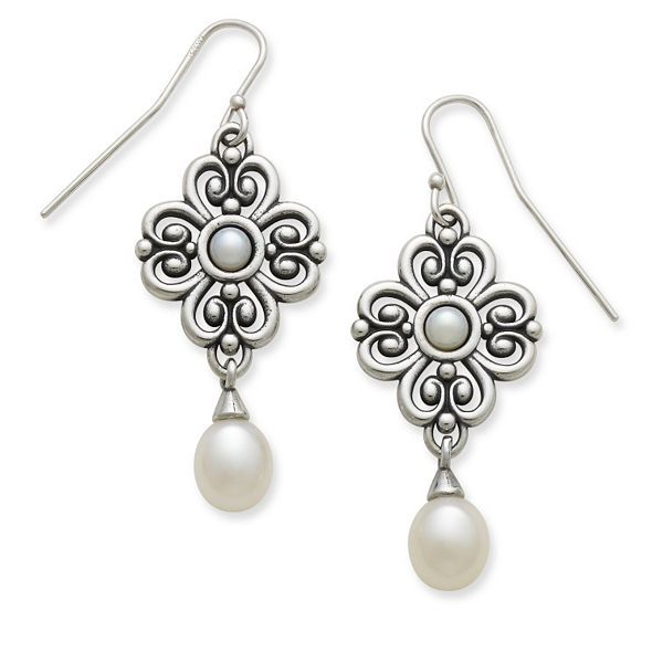 Adoration Ear Hooks with Pearls #jamesavery