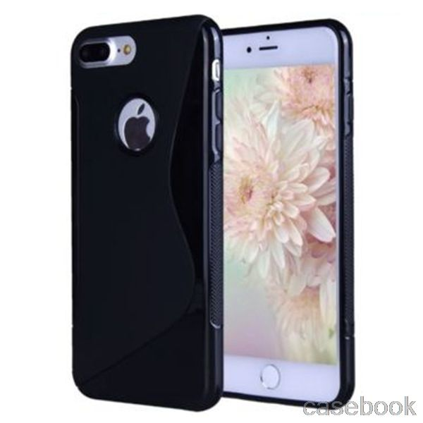 Voor iphone 3gs 4 s 5 s 5c 6 s 6 s plus tpu case voor iphone7 7 Plus S Lijn Siliconen Anti Skiding Gel TPU Gel S Line Wave Cover