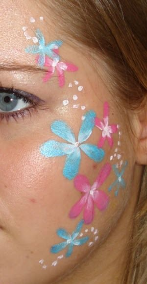 Pretty Flowers Cheek Painting