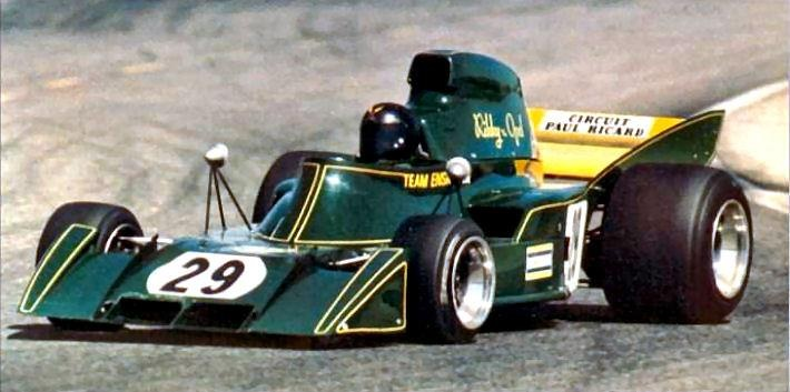 1973 Ensign, Rikky von Opel, who commissioned the car. This is his GP début @ Paul Ricard 1973.