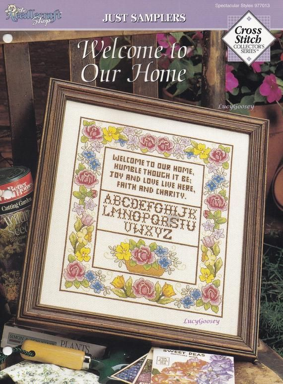 PeoplePattern Book by Dover Needlework series Anne Orrs Charted Designs Cross stitch Birds Flowers,Butterfly Elephant