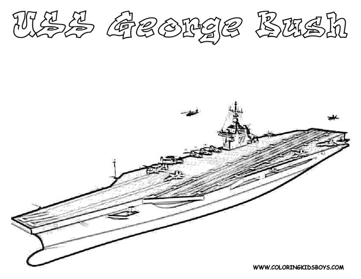 free coloring pages aircraft carrier - photo#40