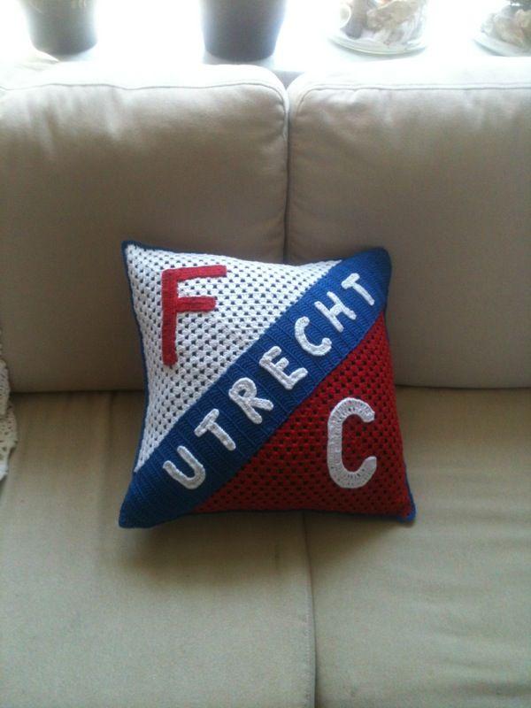 Kussen voor kleinzoon Daan   Fc Utrecht fan