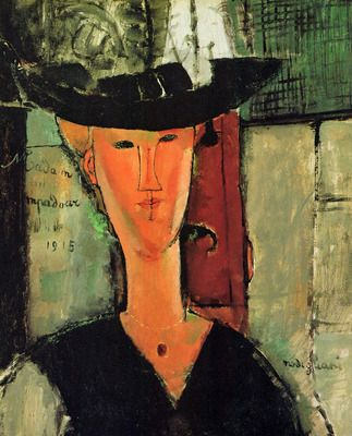 Madame Pompadour by Modigliani. Order from DEKORAMI as a poster, canvas print, mural. Zamów jako obraz na płótnie, plakat lub fototapetę na DEKORAMI.pl.