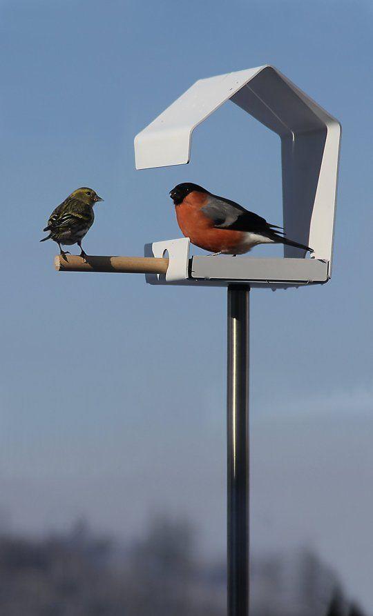 bird feeder made of sheet metal