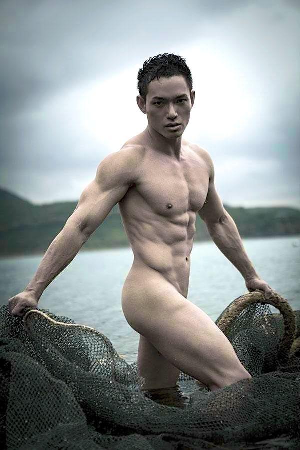 Nude asian male model