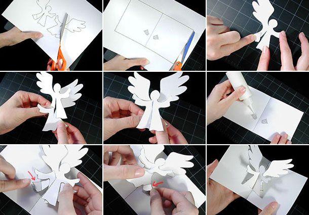 открытки к рождеству своими руками из бумаги бусла аиста