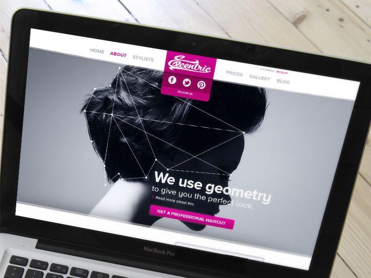 Hair stylists homepage by Tudor Popa
