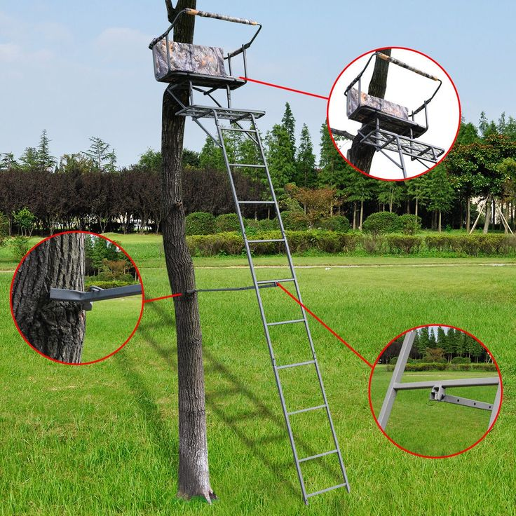 16' Two Man Hunting Ladder Stand Tree Stand Harness Seat Cushion