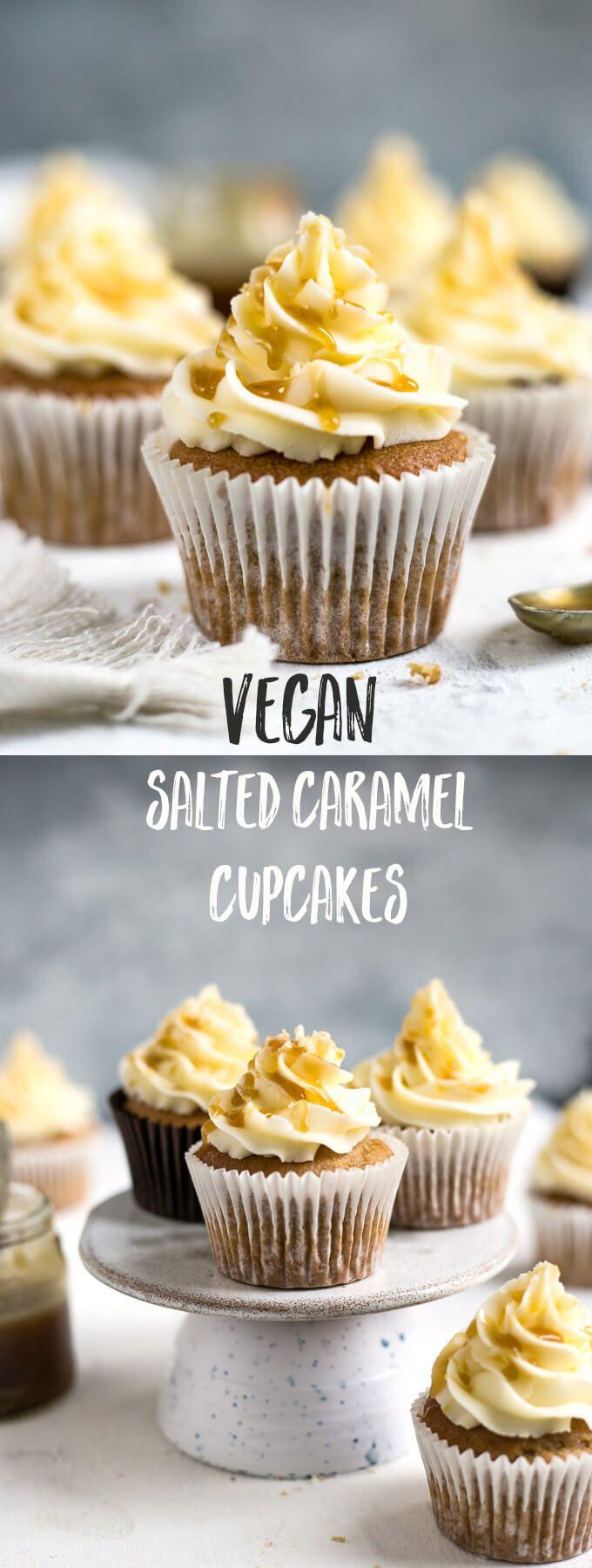 Beautiful vegan cupcakes with hidden salted caramel centre #vegan #dairyfree #cupcakes | via @annabanana.co