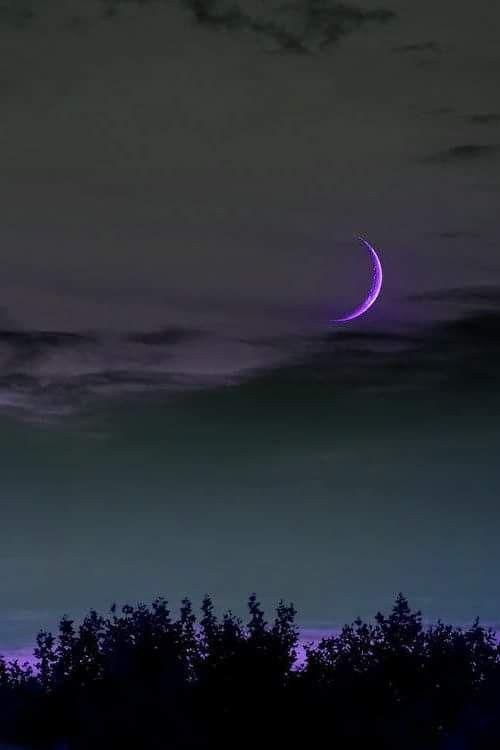 Lavender Moon luna morado reflejo belleza