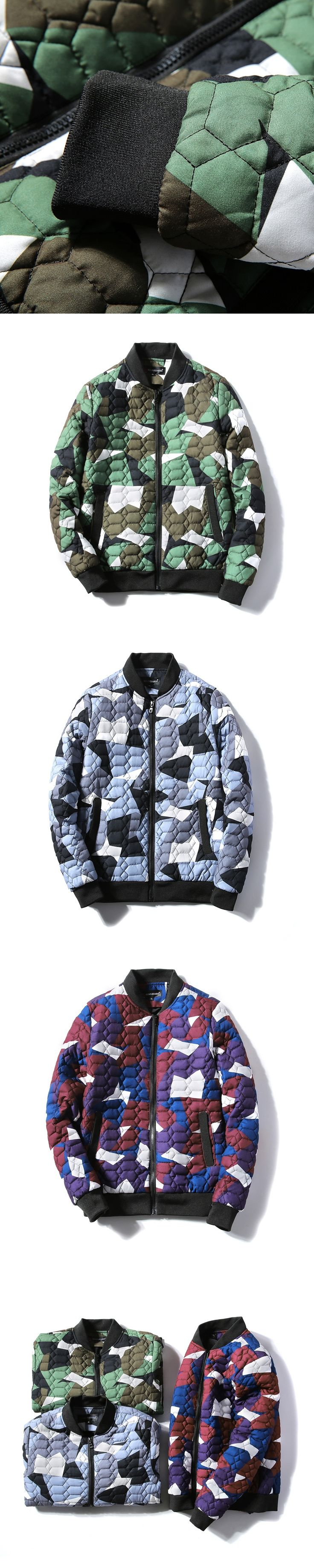 2017 new winter camouflage coat men's baseball uniform color thick warm padded jacket size young couple male fashion S-4XL