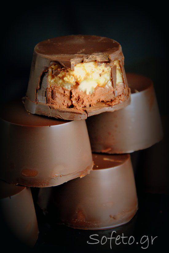 Γεμιστά σοκολατάκια με φιστικοβούτυρο και μπανάνα, χωρίς ζάχαρη! Συνταγές για διαβητικούς