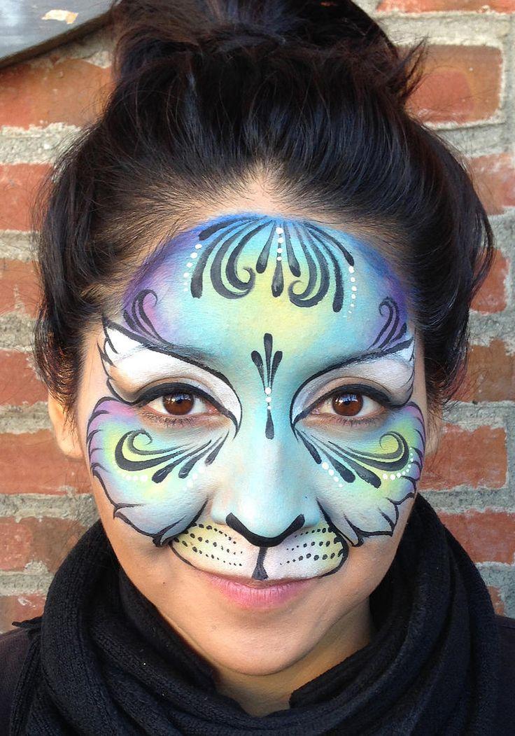 Best 25+ Cat face paintings ideas on Pinterest   Cat face ...