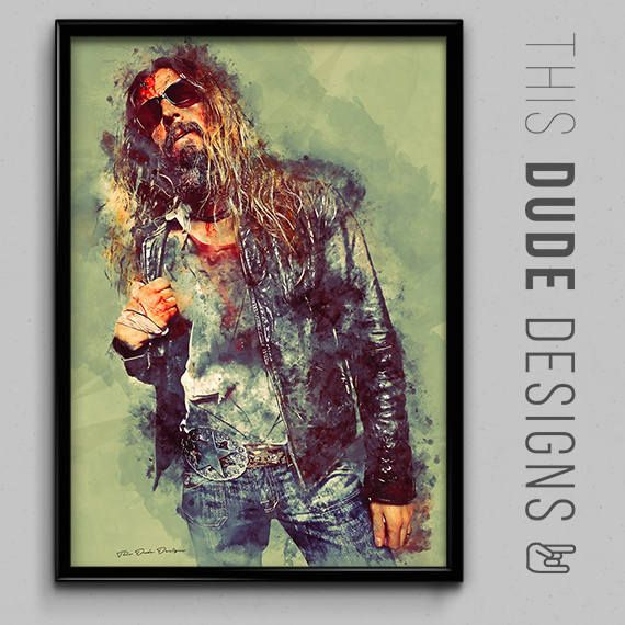 Only a few more left in stock! Rob Zombie Music Art Original Digital Poster Shop now:  https://www.etsy.com/listing/534748515/rob-zombie-music-art-original-digital?utm_source=crowdfire&utm_medium=api&utm_campaign=api