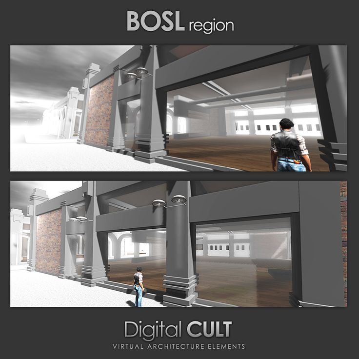 "Digital CULT - Virtual Reality lab - here's a new CUSTOM building project --] for Second Life ""BOSL region"" Website: http://www.mydigitalcult.com/ SL showroom: http://maps.secondlife.com/secondlife/New%20ITLAND/121/140/32 SL Marketplace showroom: http://marketplace.secondlife.com/stores/28867"