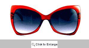 Chloe Upswept Retro Sunglasses - 470 Cherry