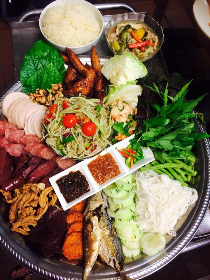 Hmong food platter