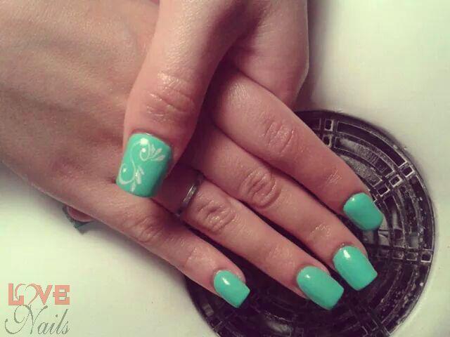 www.rdcosmetic.com Giulia Verbena - onicotecnica #unghie #nailart #polish #nailpolish #turquoise