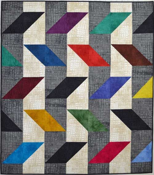 371 best Quilt HST Inspiration images on Pinterest | Bedspreads ... : parallelogram quilt pattern - Adamdwight.com