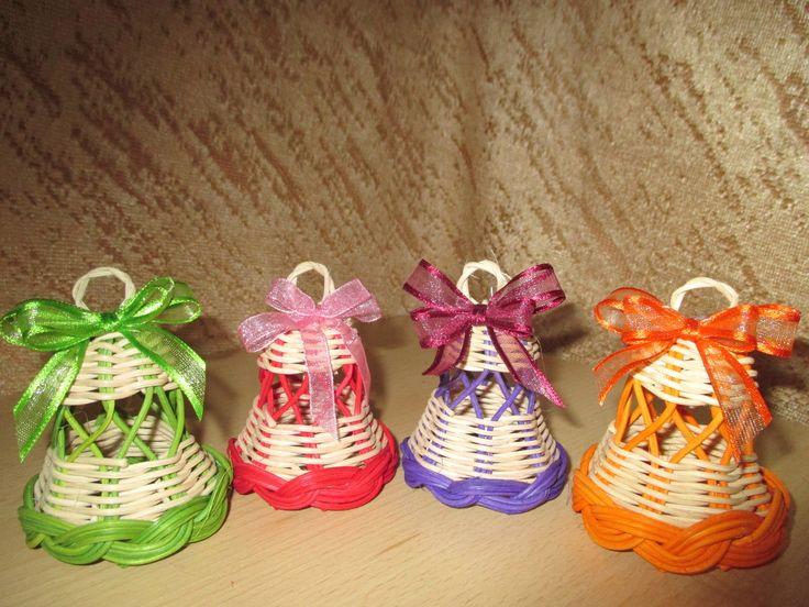 Zvonečky Barevné zvonečky s mašličkou výška-5cm