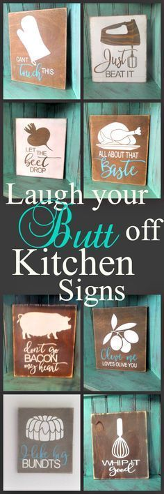 These funny kitchen wood signs are the perfect gift for the…