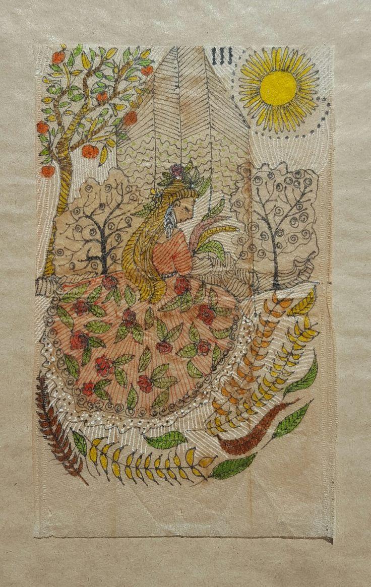 Tea bag art & tarot By lorena carreño