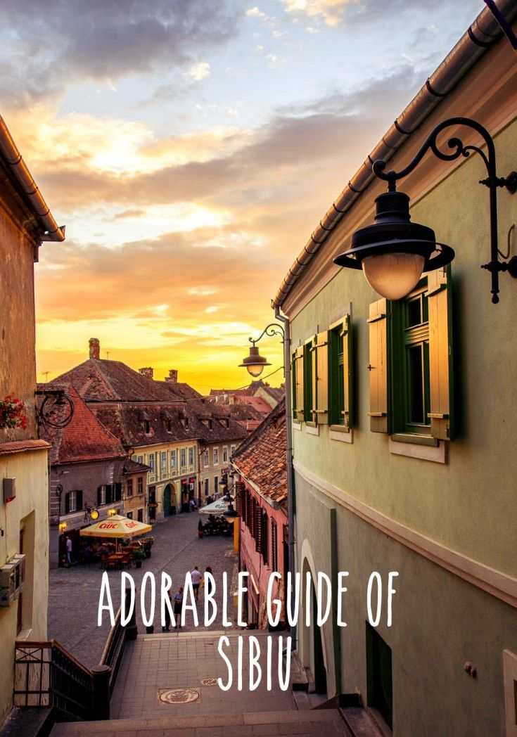 Adorable guide of Sibiu, Romania.