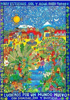 'Luchemos por un mundo nuevo', Beatriz Aurora, 46 x 34 cm / EZLN, pintura, arte zapatista