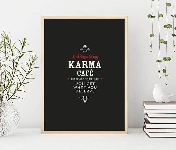 Karma café  print