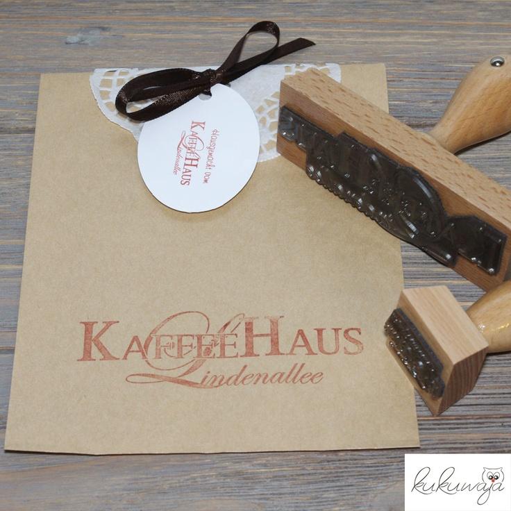 kukuwaja: Logostempel für Kaffeehaus Lindenallee