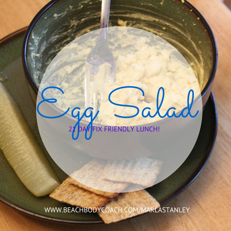 21 day fix eggsalad- 1 red (2 eggs mixed with mustard...)
