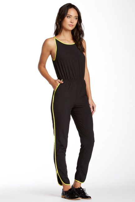 Woven Piped Jumpsuit