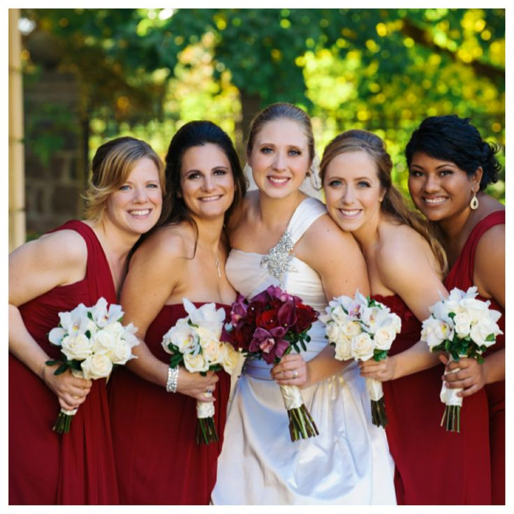 Bride Jennifer and bridal party hair and make up by Civello Oakville team