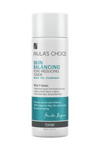Skin Balancing Pore-Reducing Toner #paulaschoice #fragrancefreeproducts #crueltyfreeproducts $20.00 Smaller pores start here. This lightly hydrating toner restores skin's balance and minimizes pores. Helps control oily and combination skin, too. Anti-Aging, Blackheads, Enlarged Pores, Wrinkles Combination , Oily Skin Reduces redness and eliminates flaky dry skin