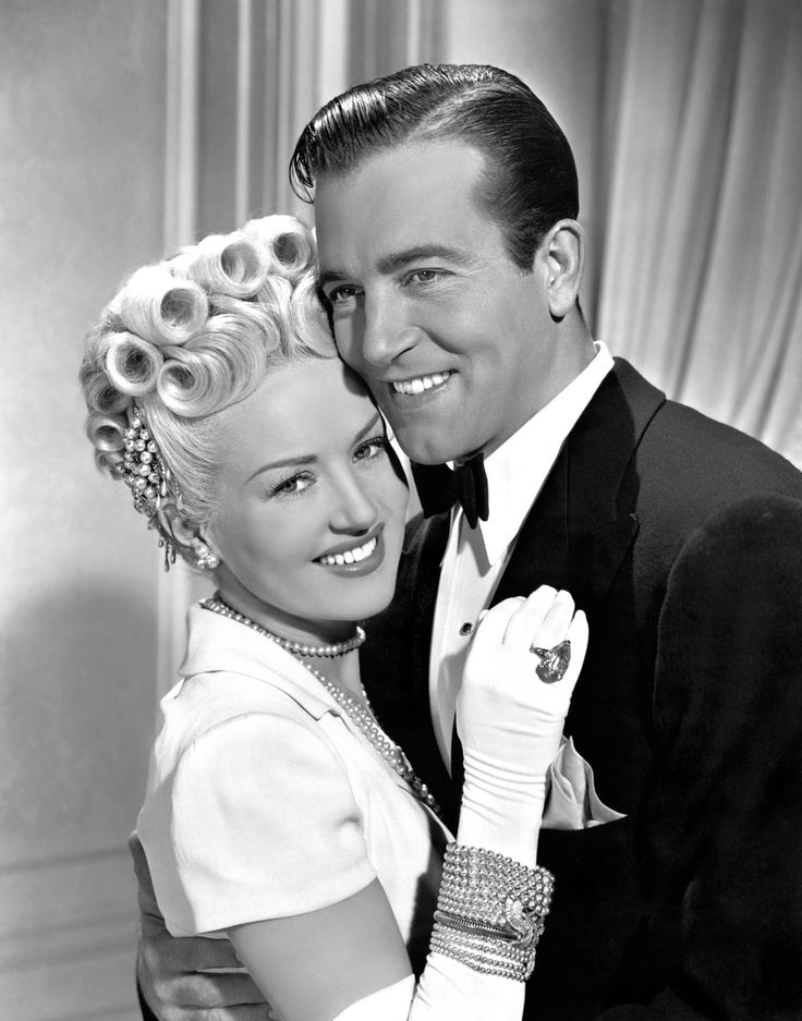 """oldfashionedsoutherngirl: """"Betty Grable and John Payne,The Dolly Sisters, ca. 1945. """""""