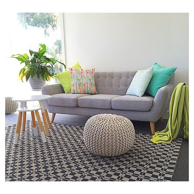 Delightful U201c From Featuring The Kmart White Dipped Stool And Ottoman. Such A  Beautifully Styled Space!