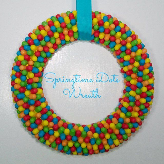 Dots Easter Wreath