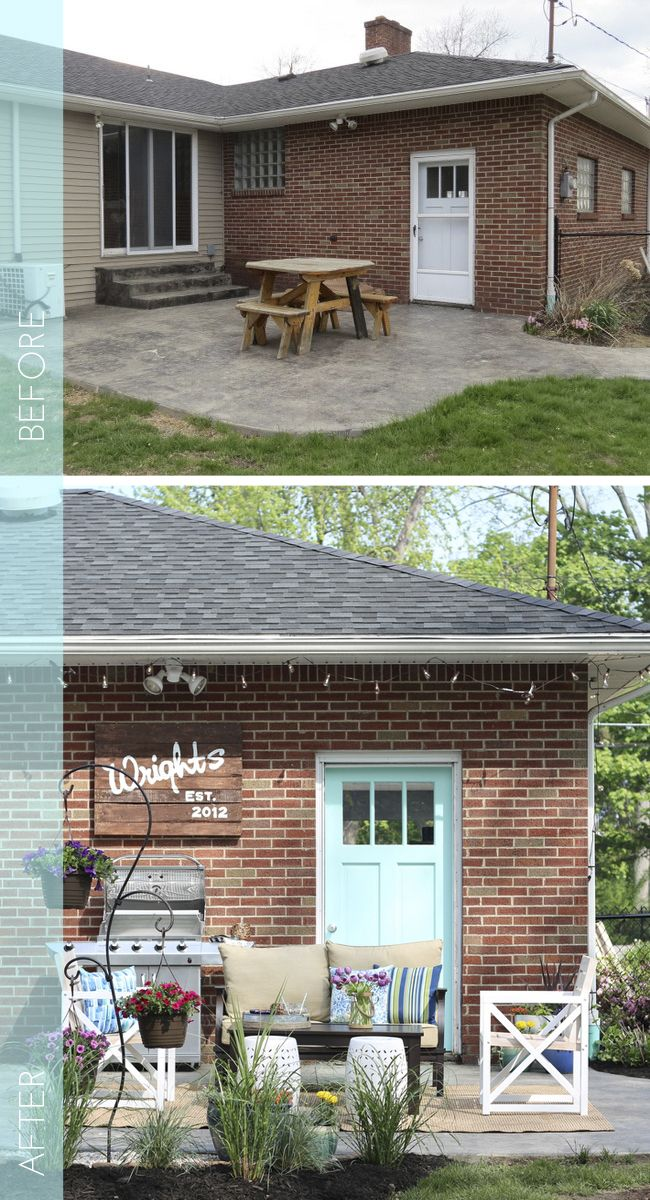 A Little Landscaping, Some Paint, Furniture, And Some Pretty Decorations  Came Together To
