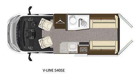 V-Line 540-SE Floorplan